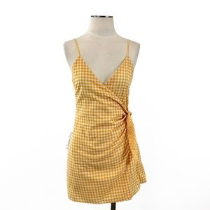 Lovers + Friends- Julian Gingham Tangerine Dress S
